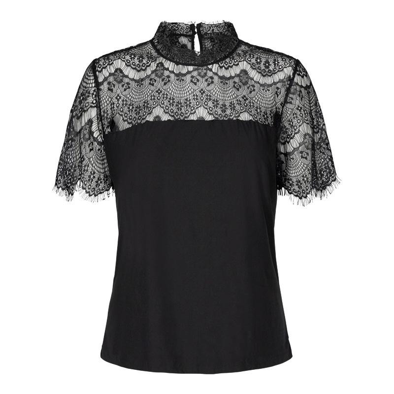 Image of BLACK ALMA-LACE-BLOUSE 9533 fra Liberte