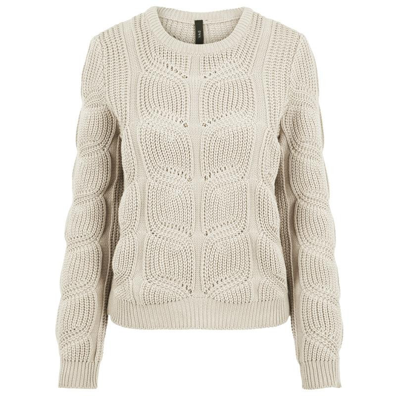 Image of   Cloud Cream YASMONICA LS KNIT PULLOVER FT 26018647 fra YAS