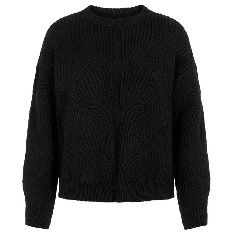 Image of   Black YASDALIA LS KNIT PULLOVER AW D2D 26019484 fra YAS