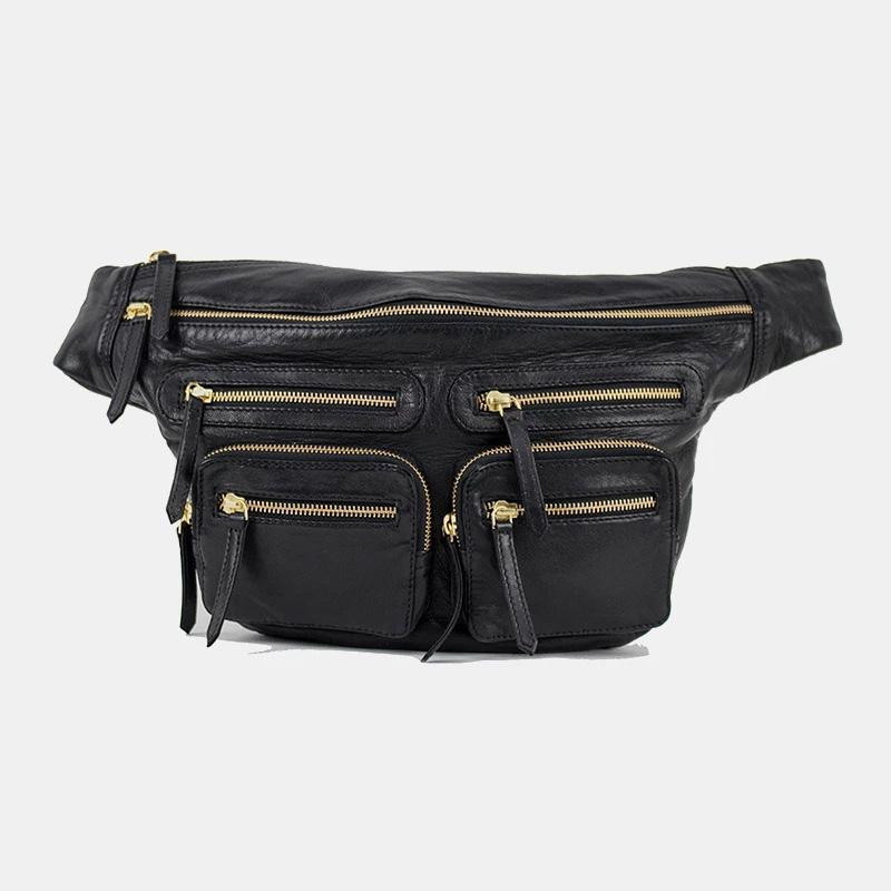 Image of   Black/Gold oversize LY Bumbag - 3294 fra Re:Designed