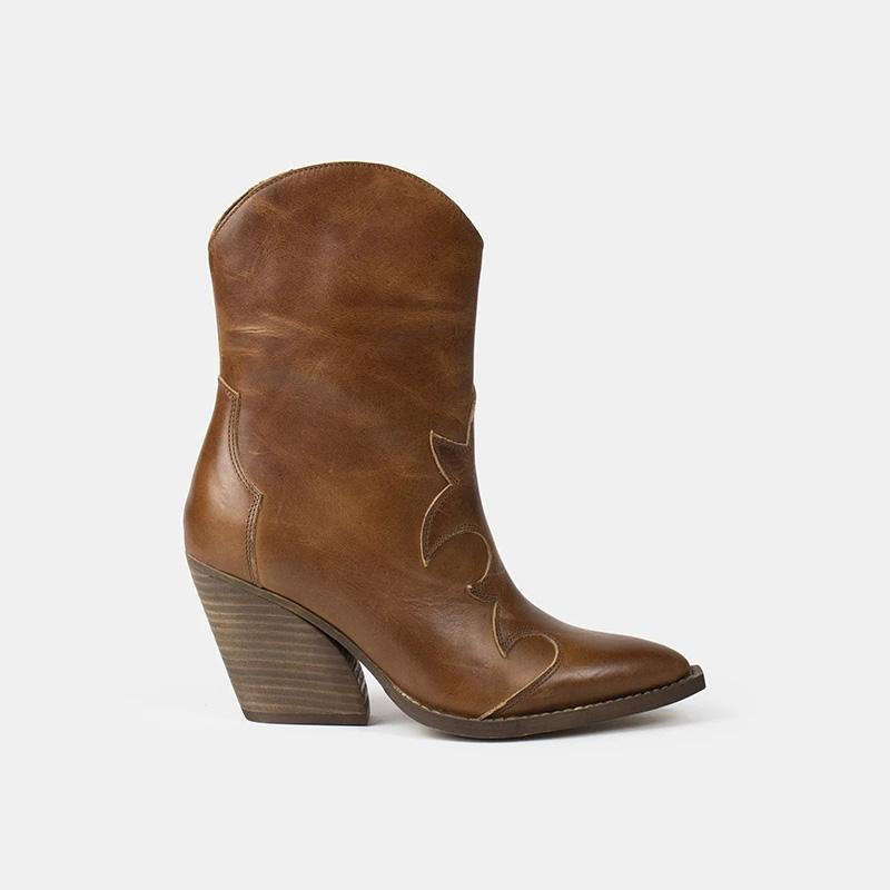 Image of   Cognac Remsy Boots 4736 fra Re:Designed