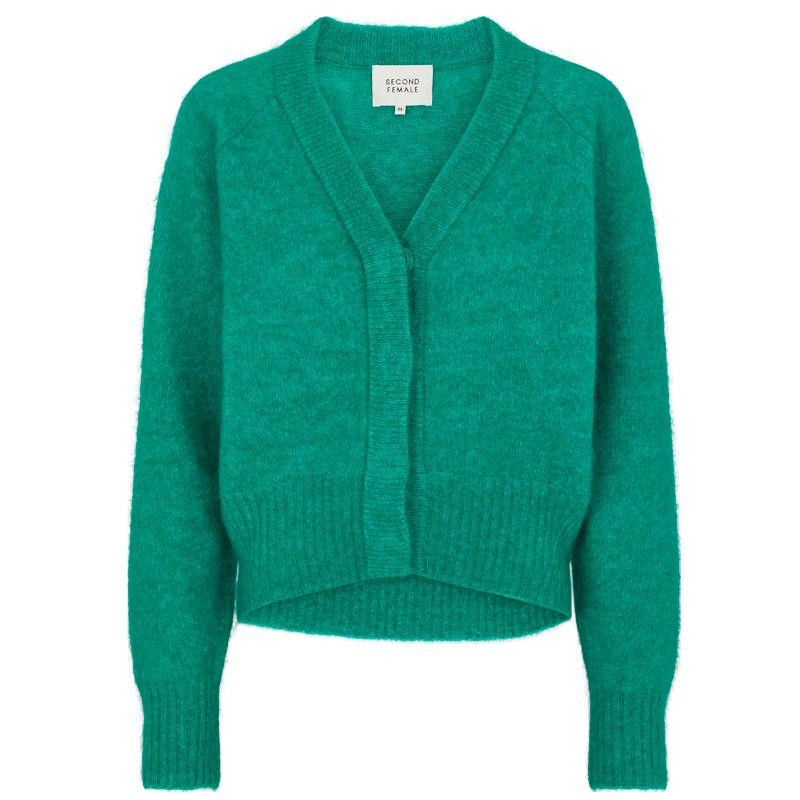 Image of   Lush Meadow Brook Knit Boxy Cardigan 52507 fra Second Female