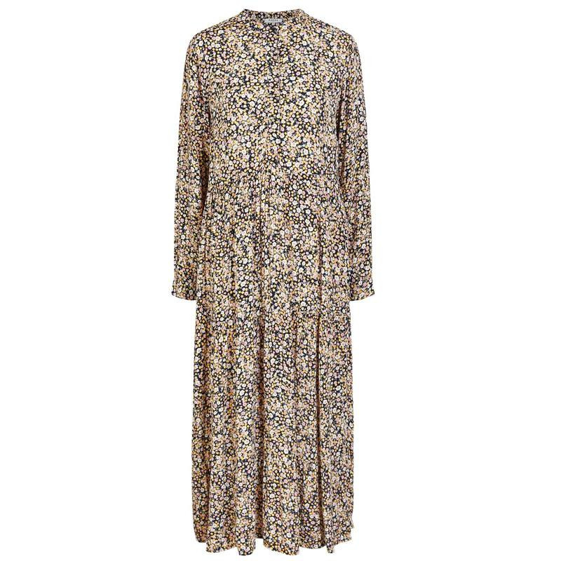 Image of   Artisans Gold FLOWERS PCRIRI LS MIDI DRESS 17104578 fra Pieces