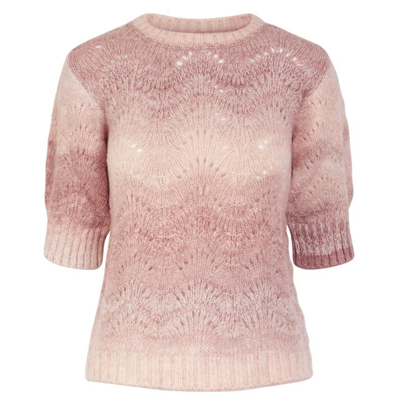 Image of   Misty Rose YASLENON SS KNIT PULLOVER FT 26018833 fra YAS