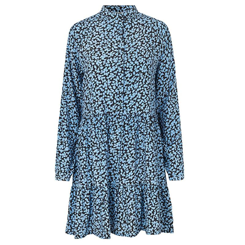 Image of   Mylie Light Blue Print Marra Dress 45877120 fra mbyM