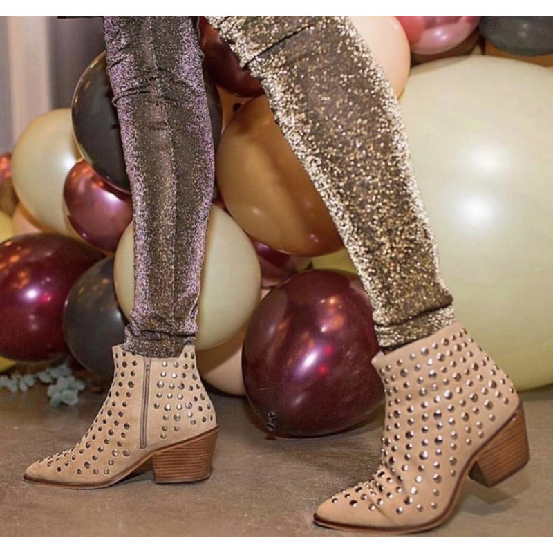 Image of   Beige CLARISSA Boot pointed - fra Copenhagen Shoes by Josefine Valentin