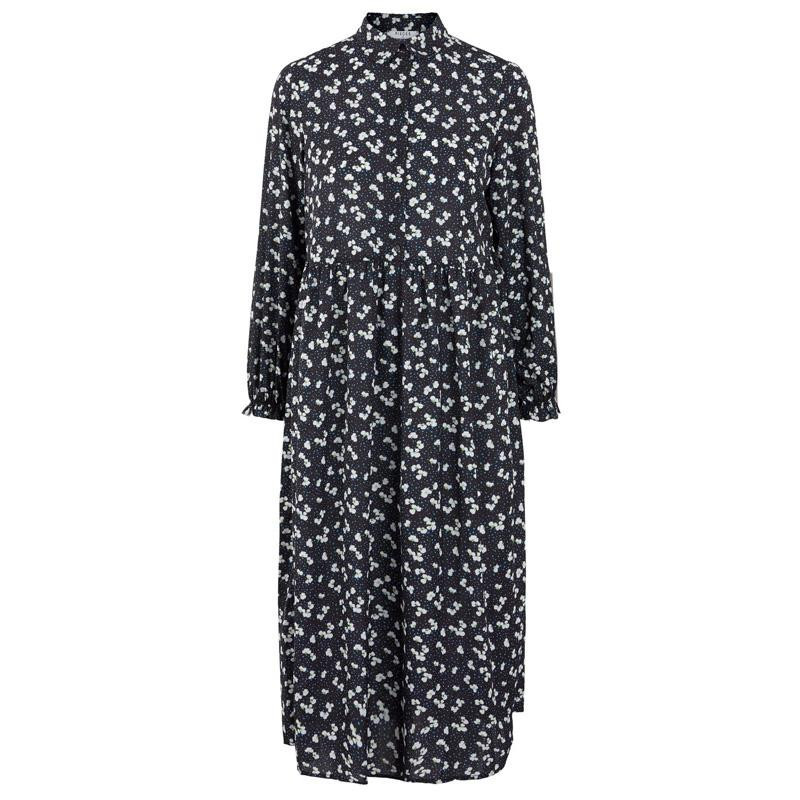Image of   Black FLOWERS PCBRIT LS MIDI DRESS 17107788 fra Pieces