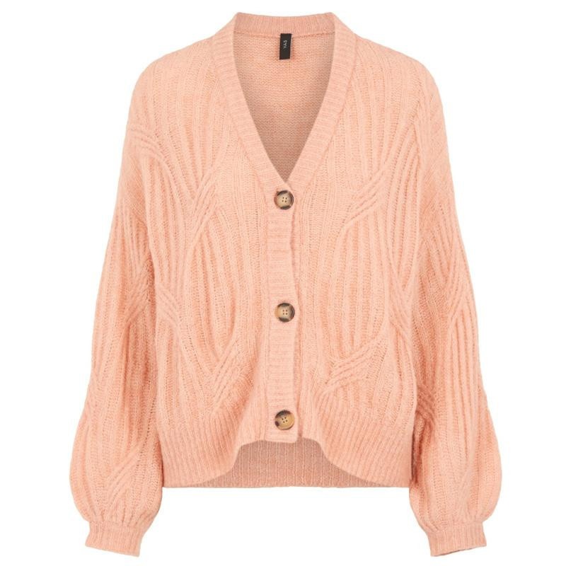 Image of   Coral Pink YASPIXIE KNIT CARDIGAN 26018597 fra YAS