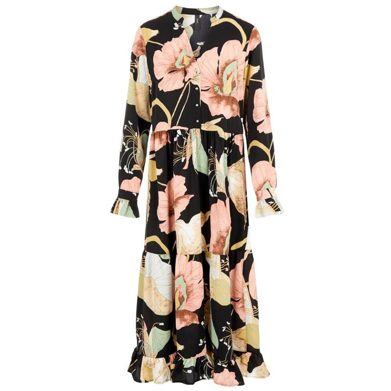 Image of   Black BLACK AOP YASBLOOMI ANKLE DRESS FT 26019165 fra YAS