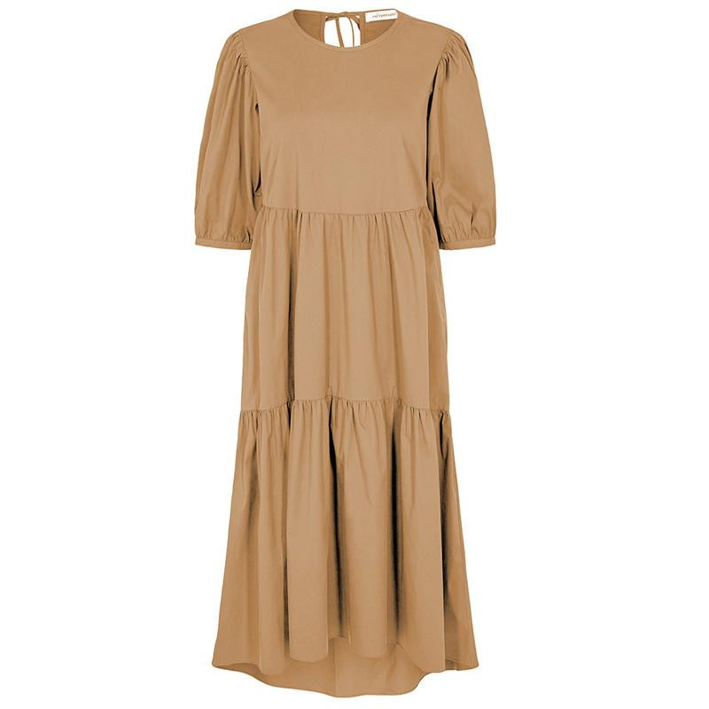 Image of Khaki Cecilie Poplin Dress 96194 fra Co'Couture (030901-411)
