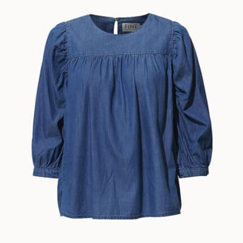 Image of Chambray Blue Chantal Blouse 20032 fra Fine (010901-767)
