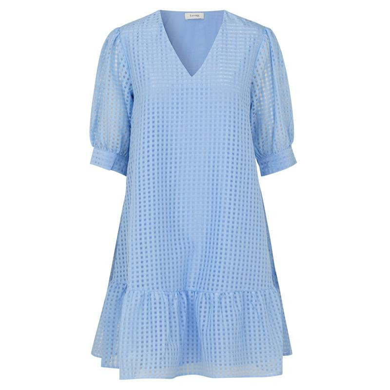 Image of   CHAMBRAY BLUE COMBI LR-IBEN DRESS 100285 fra Levete Room