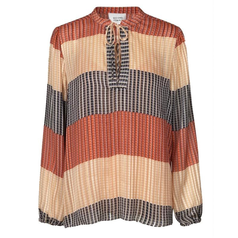 Image of   Apricot Brandy Board LS Blouse 53175 fra Second Female