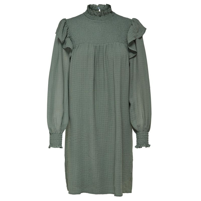 Image of   Agave Green STUASTI L/S KNEE DRESS 15217779 fra Only