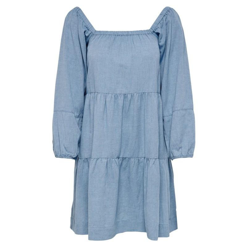 Image of Blue Glow ONLJANE L/S SQUARED NECK DRESS WVN 15207376 fra Only (071401-666)