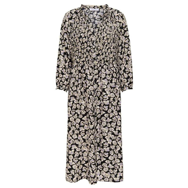 Image of Black ROCKY ROSE ONLROCKY ROSE 7/8 SMOCK MIDI DRESS WVN 15206432 fra Only (071401-786)