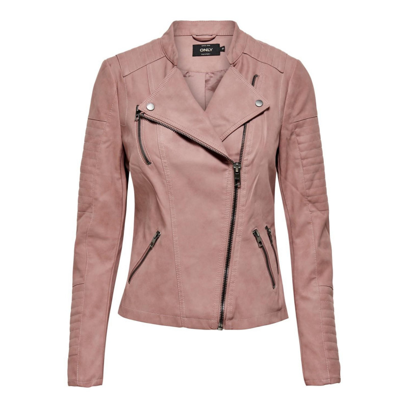 Image of Ash Rose ONLAVA FAUX LEATHER BIKER OTW NOOS 15102997 fra Only (071701-A006)
