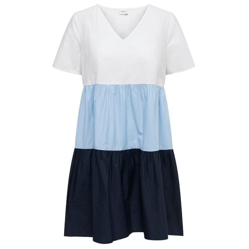 Image of White CHAMBRAY BLUE + SKY CAPTAIN JDYTATE LIFE S/S DRESS WVN 15204011 fra JDY (111701-811)