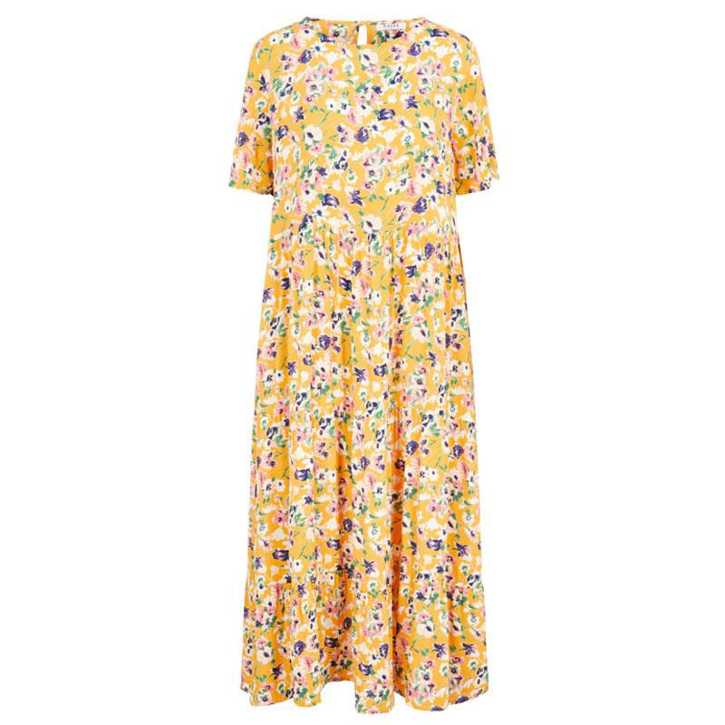 Image of   Apricot GARDEN FLOWERS PCAVIANNA SS MIDI DRESS 17105840 fra Pieces