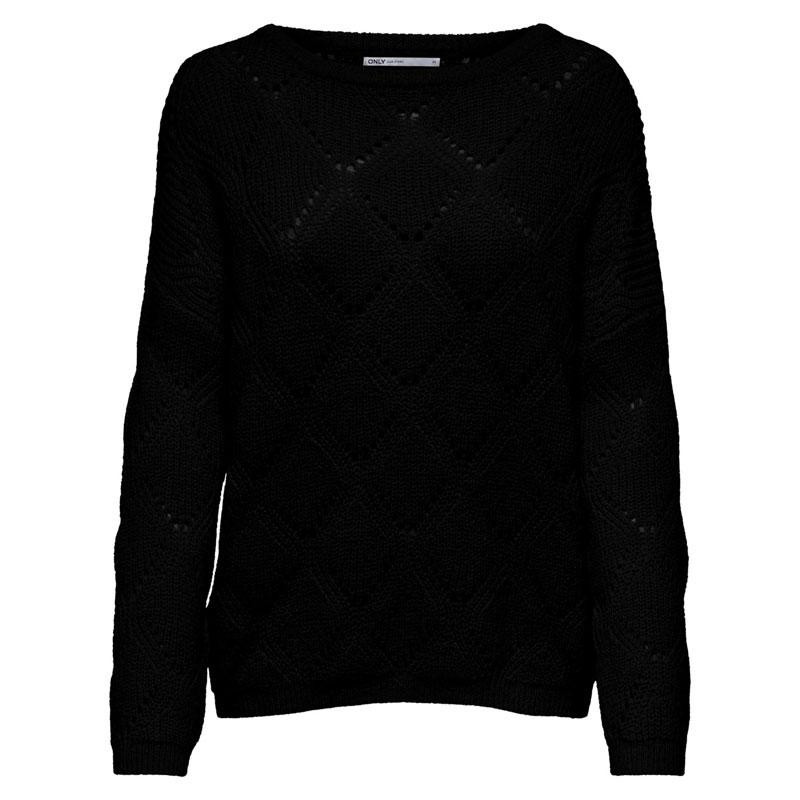 Image of Black ONLTARA L/S O-NECK PULLOVER EX KNT 15196569 fra Only (072001-V034)