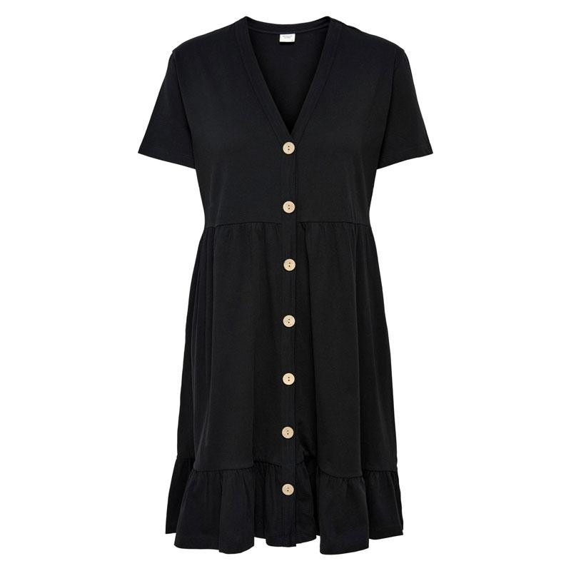 Image of Black JDYBERRY LIFE S/S BUTTONTHROUG DRESS JRS 15207842 fra JDY (112101-J029)