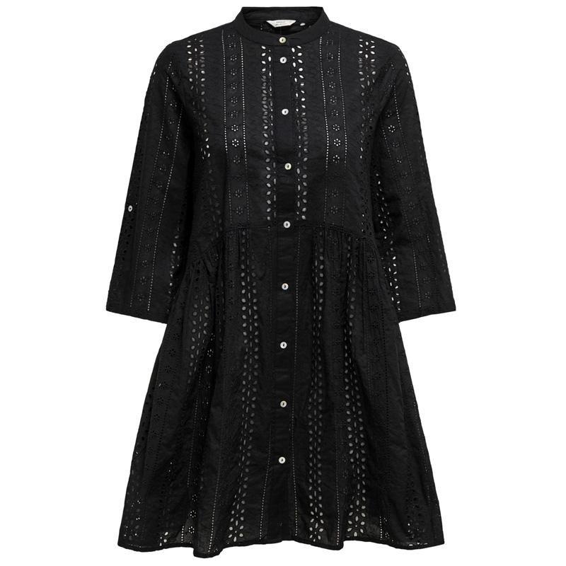 Image of Black ONLCHICAGO LIFE 2/4 BROD DRESS 5714512219052 fra Only (072101-V005)