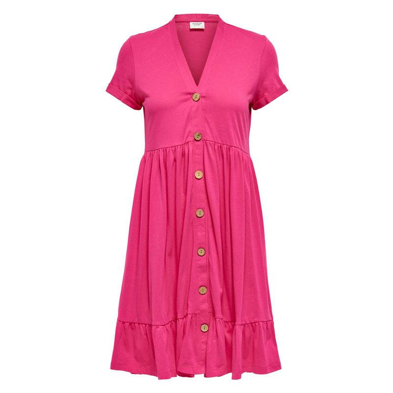 Image of Fuchsia Rose JDYBERRY LIFE S/S BUTTONTHROUG DRESS JRS 15207842 fra JDY (112201-109)
