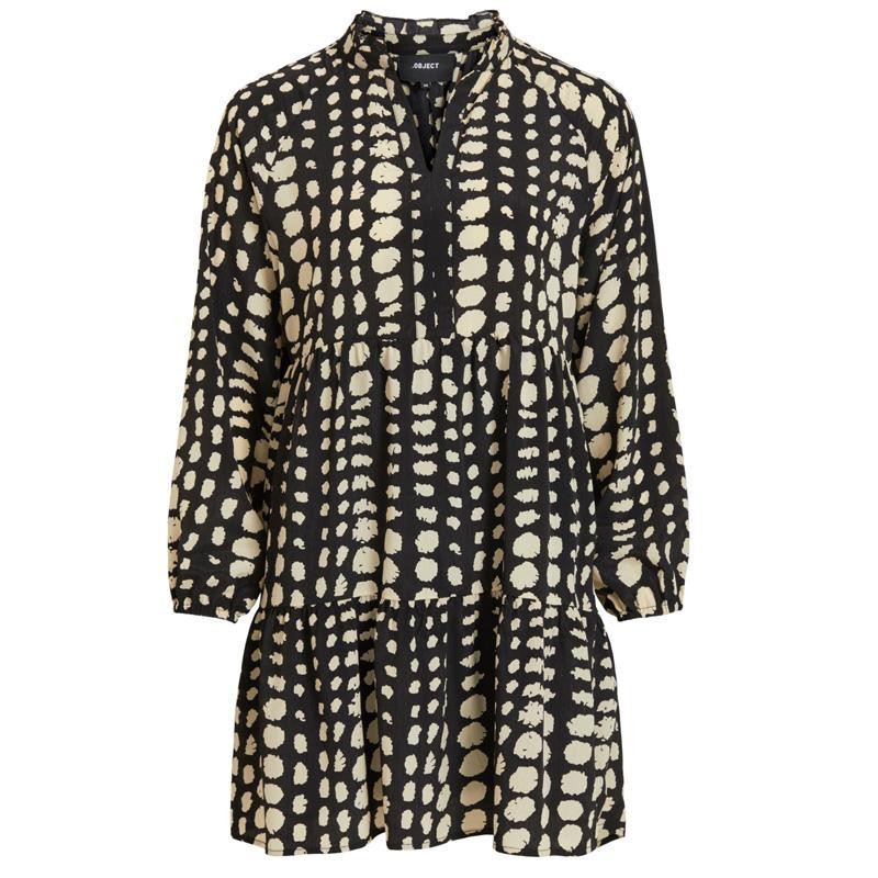 Image of Black SPOTS OBJGIA L/S DRESS 23033628 fra Object (122301-096)