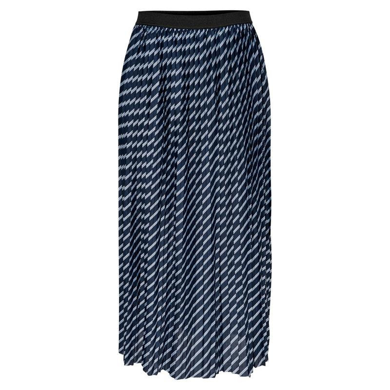 Image of Faded Denim STRIPE_AOP JDYDOMINIQUE SKIRT JRS 15196527 fra JDY (112401-J006)