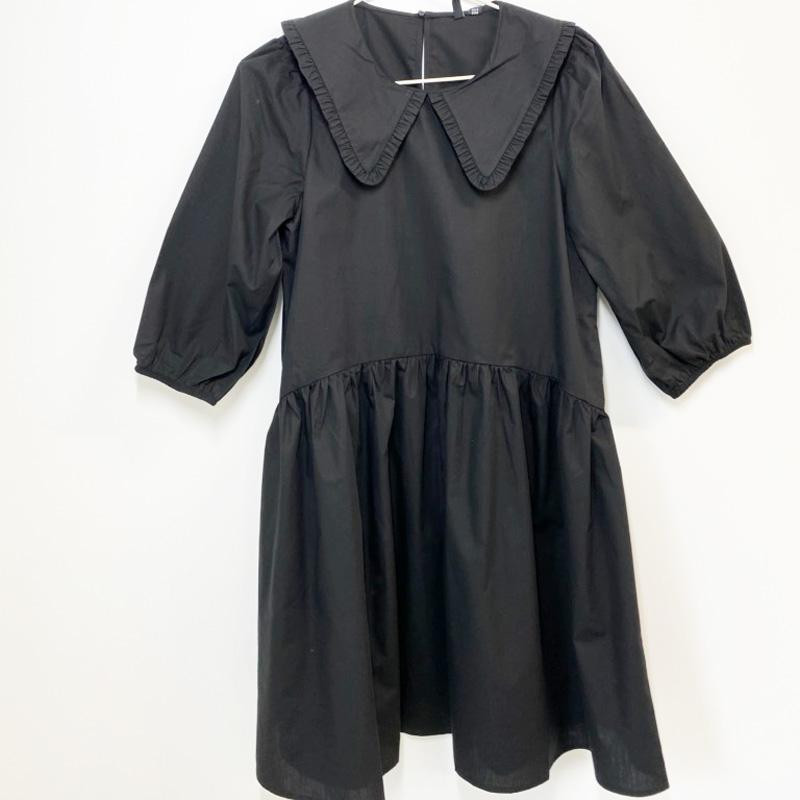Image of Black VMDIANA 2/4 COLLAR DRESS 10243396 fra Vero moda (142701-133)