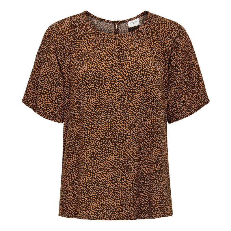 Image of Black LEATHER BROWN MINI LEO JDYPEARL S/S TOP WVN 15209000 fra JDY (113001-324)
