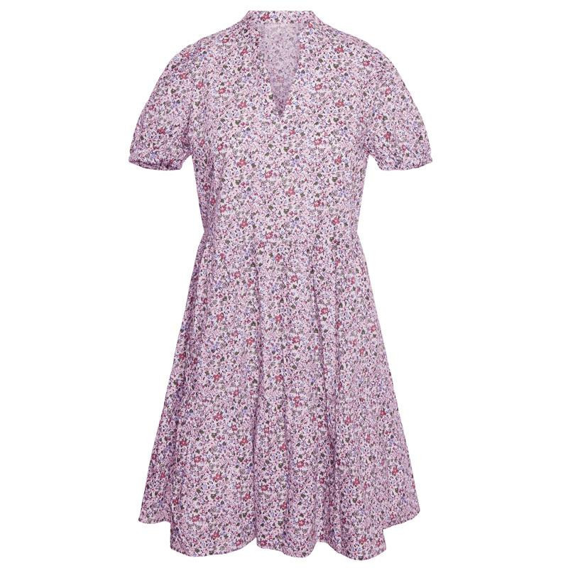 Image of Birch PURPLE FLOWERS VMSOPHIE V-NECK DRESS 10246327 fra Vero Moda (143101-439)