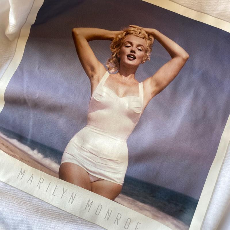 Image of Bright White BLACK ONLMARILYN MONROE TEE 15210126 fra Only (073401-476)