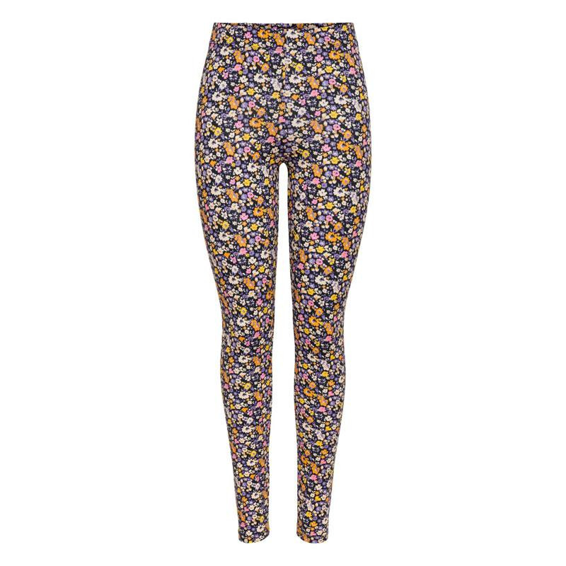 Image of Black FLOWER ONLMAYA LIVE LOVE LEGGINGS JRS 15221198 fra Only (073401-J045)
