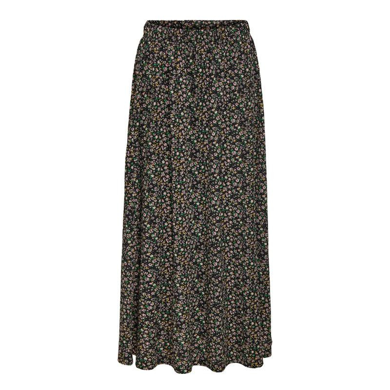 Image of Black DITSY ONLZILLE MAXI SKIRT 15230141 fra Only (073401-J047)