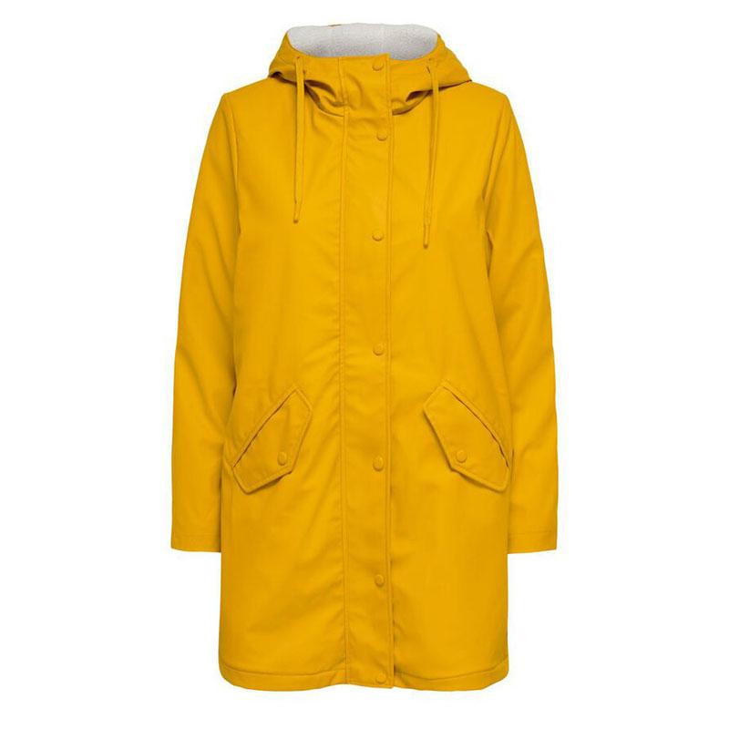 Image of Golden Yellow WHITE TEDDY ONLSALLY RAINCOAT CC OTW 15206116 fra Only (073401-A22)