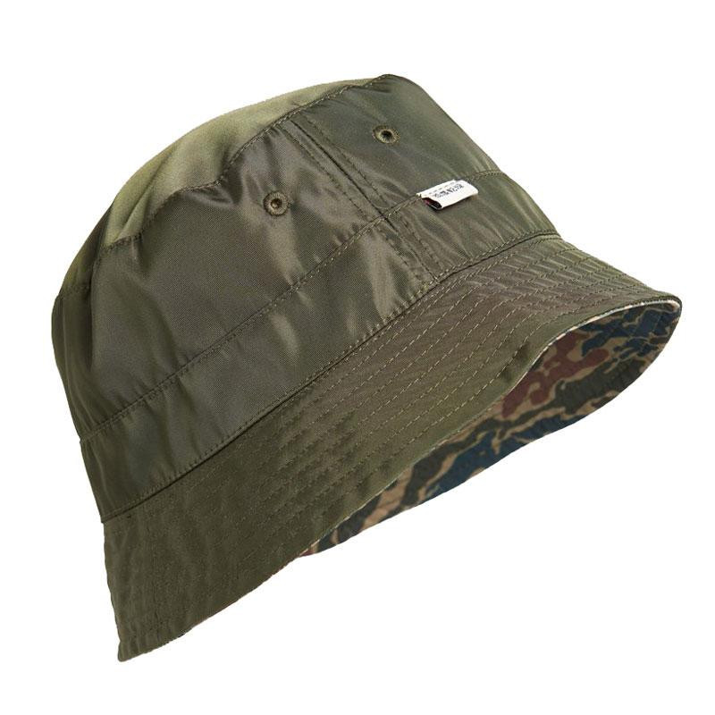 Image of Green Camo NYLON REVERSIBLE BUCKET HAT W9010276A fra Superdry (973503-644)