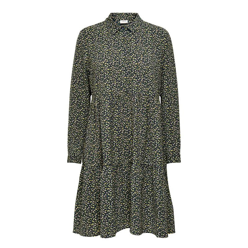 Image of Dark Navy DITSY FLOWER JDYPIPER L/S SHIRT DRESS NOOS 15221987 fra JDY (113701-885)