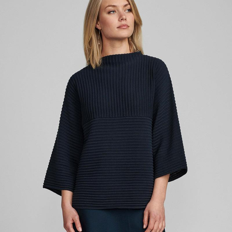 Image of SAPPHIRE NUIRMELIN O-NECK PULLOVER 700287 fra Numph (133701-862)