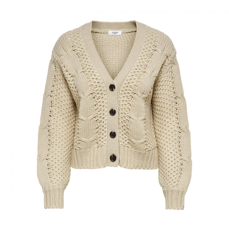 Image of Cement JDYJULIA CABLE CARDIGAN KNT 15203724 fra JDY (113801-X034)