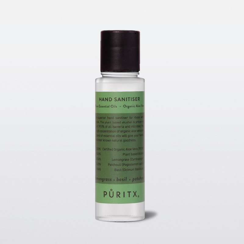 Image of Lemongrass, Basil, Patchouli 60 ml Hand Sanitiser fra Puritx (203903-093)