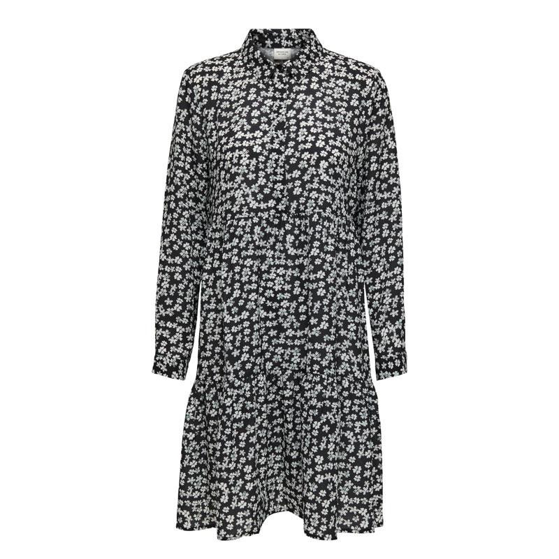 Image of Black WHITE FLOWER JDYPIPER SHIRT DRESS 15221987 fra JDY (113901-Y030)
