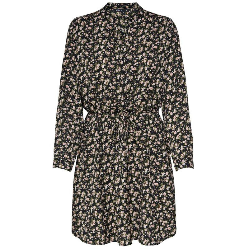 Image of Black SARAH DITSY FLOWER ONLCORY V-NECK TUNIC NOOS 15200543 fra Only (073901-J035)