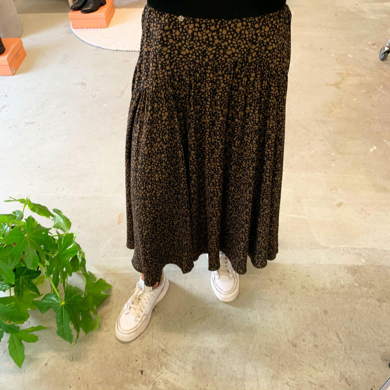 Image of Green Leopard RONDA MIDI SKIRT W7210062A fra Superdry (974001-113)