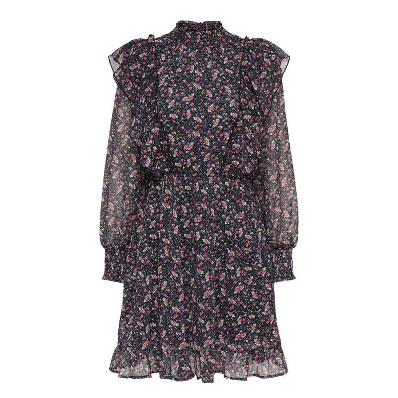 Image of Black FLOWER ONLJENNIFER DRESS 15219584 fra Only (074201-S020)