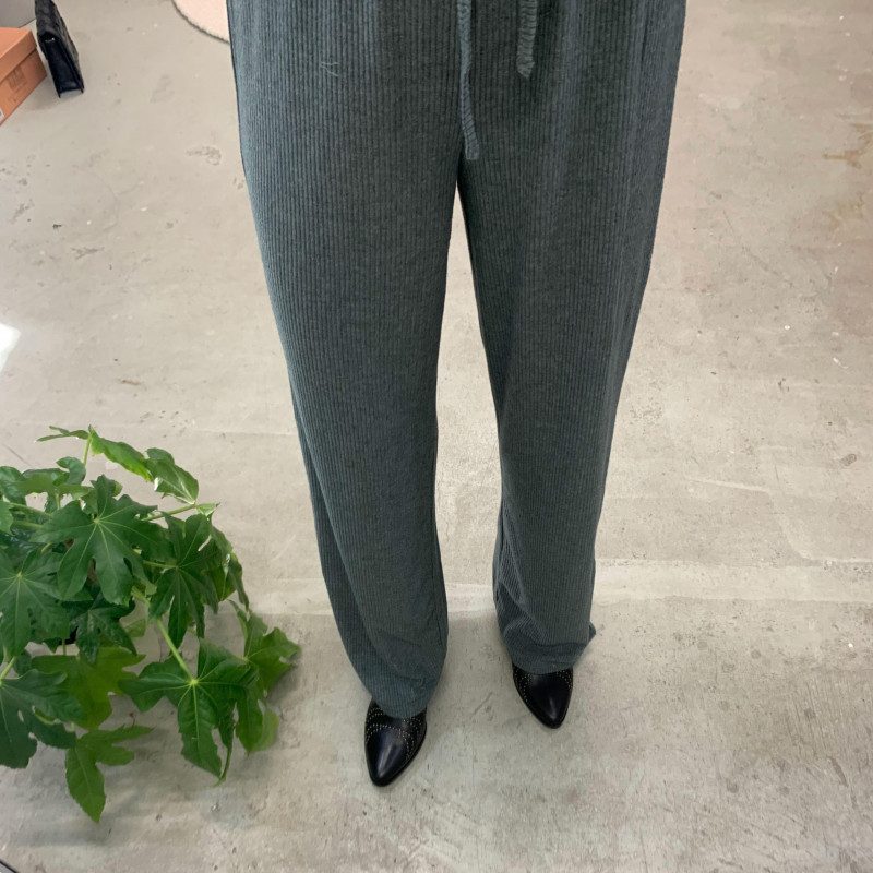 Image of Balsam Green ONLZOE WIDE LEG PANT 15228276 fra Only (074201-495)