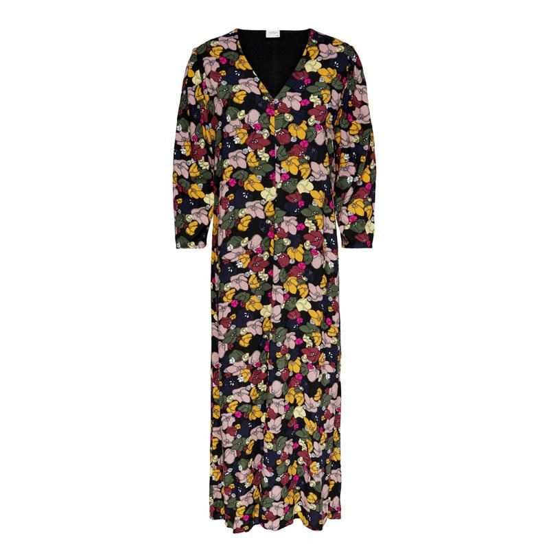 Image of Black MULTICOLOR FLOWERS JDYMELVIN LONG DRESS 15213211 fra JDY (114401-R007)