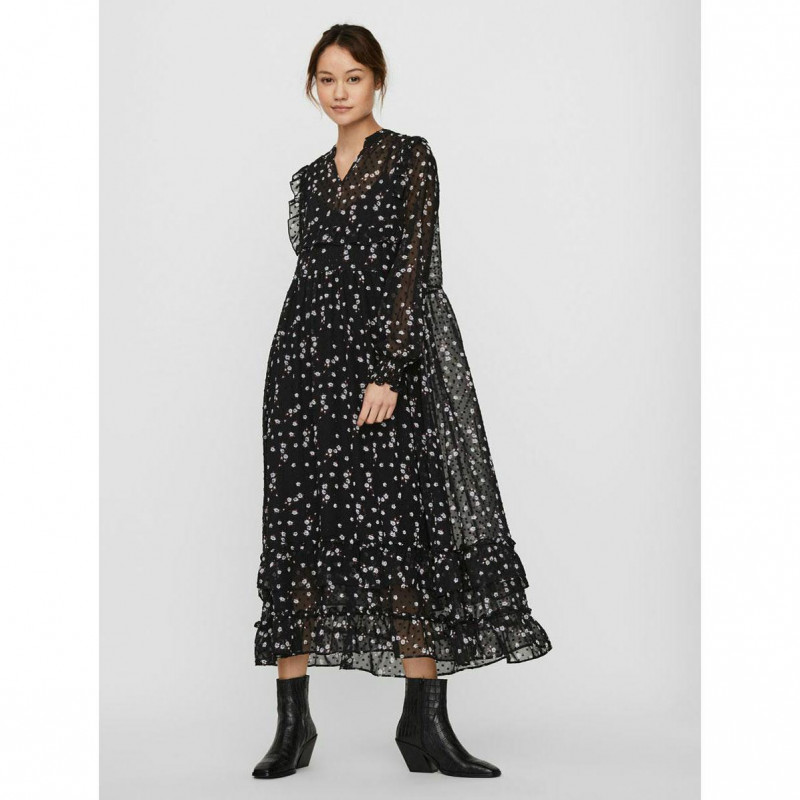 Image of Black FLOWER VMALVIN DRESS 10247442 fra Vero Moda (144401-R005)