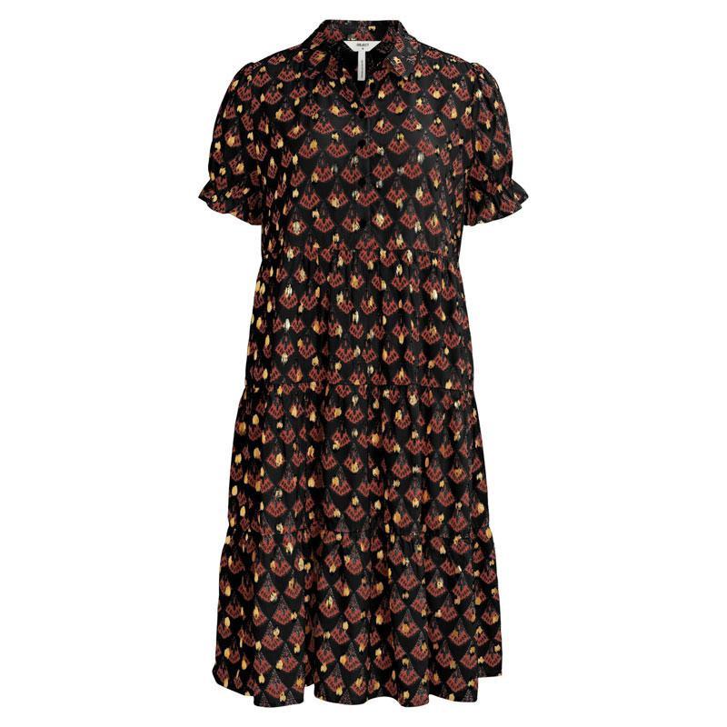 Image of Black FAN DOT OBJCARLOTA DRESS 23033700 fra Object (124601-R017)