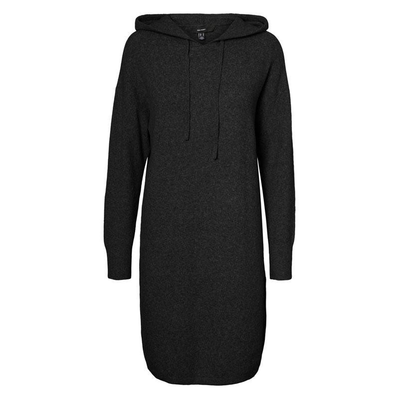 Image of Black MELANGE VMDOFFY HOOD DRESS 10236978 fra Vero Moda (144701-B003)